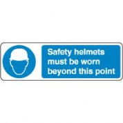 Mandatory Safety Sign - Safety Helmets Must 133